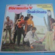 Discos de vinilo: VINILO. EP. FORMULA V - CENICIENTA. AHORA ESTOY ENAMORADO. SINGLE PHILIPS DE 1969. IMPRESO EN ESPAÑA. Lote 47850491