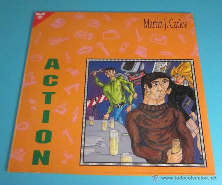 MARTÍN J. CARLOS. ACTION (Música - Discos de Vinilo - Maxi Singles - Techno, Trance y House)