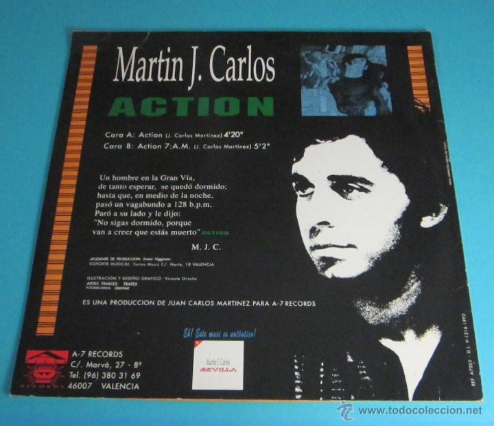 Discos de vinilo: MARTÍN J. CARLOS. ACTION - Foto 2 - 47851661
