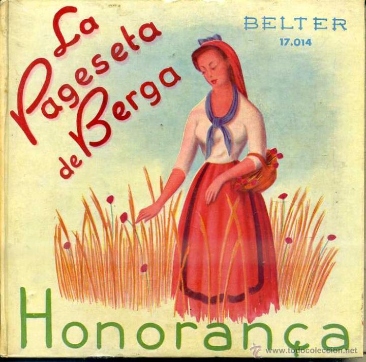 COBLA BARCELONA : LA PAGESETA DE BERGA / HONORANÇA - LIBRODISCO SARDANAS 33 RPM (Música - Discos de Vinilo - EPs - Clásica, Ópera, Zarzuela y Marchas)