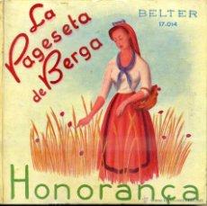 Discos de vinilo: COBLA BARCELONA : LA PAGESETA DE BERGA / HONORANÇA - LIBRODISCO SARDANAS 33 RPM. Lote 47853523