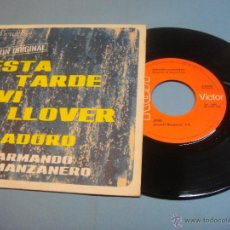 Discos de vinilo: VINILO. EP. ARMANDO MANZANERO. ESTA TARDE VI LLOVER - ADORO. SINGLE RCA DE 1967. BUEN ESTADO. Lote 54465834