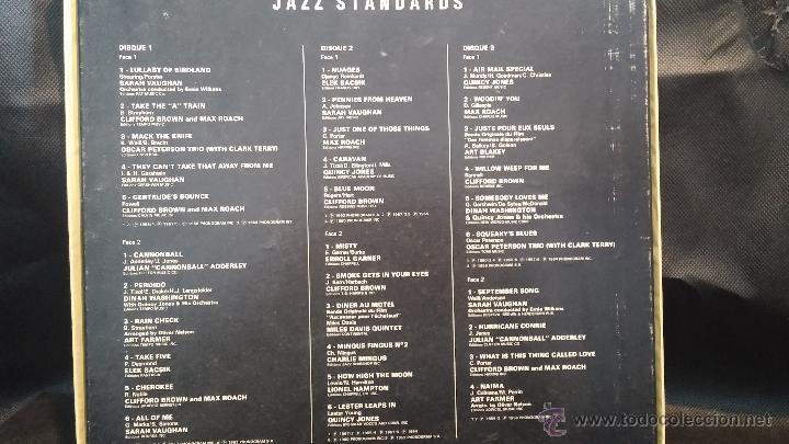 Discos de vinilo: Jazz Standards, 3 grandes discos Lps de Jazz presentados en estuche de coleccionista - Foto 5 - 47859044