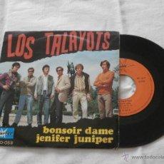 Discos de vinilo: LOS TALAYOTS 7´SG BONSOIR DAME / JENIFER JUNIPER (1968) BUENA CONDICION * RARO*. Lote 47860050