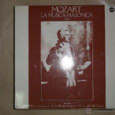 Discos de vinilo: MOZART LA MÚSICA MASÓNICA INTEGRAL DOBLE LP. Lote 47862066