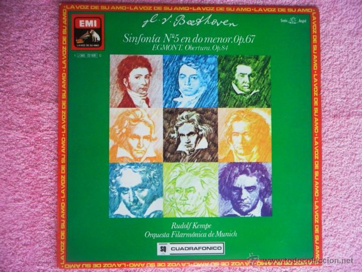 RUDOLF KEMPE SINFONIA 5 EN DO MENOR OP 67 1976 ODEON 02509 BEETHOVEN SONIDO CUADRAFONICO (Música - Discos - LP Vinilo - Clásica, Ópera, Zarzuela y Marchas)