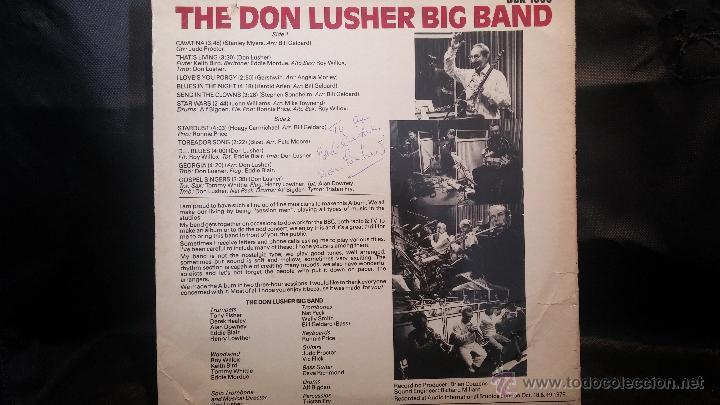 Discos de vinilo: Disco Lps, THE DON LUSHER, dedicado de puño y letra a Anna, pieza de coleccionistas - Foto 2 - 47867635