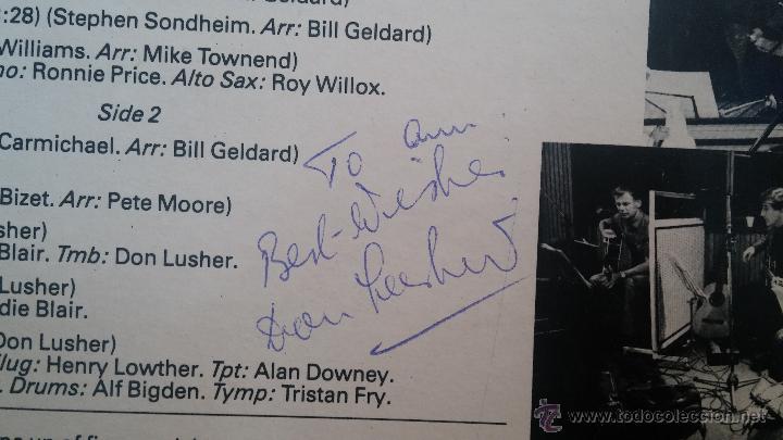 Discos de vinilo: Disco Lps, THE DON LUSHER, dedicado de puño y letra a Anna, pieza de coleccionistas - Foto 5 - 47867635