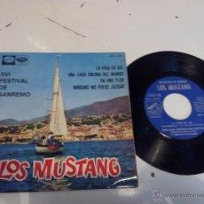 Discos de vinilo: LOS MUSTANG - SAN REMO 1965 (EP) . Lote 47868782