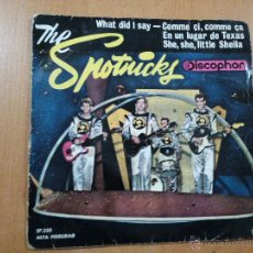 Discos de vinilo: THE SPOTNICKS WHAT DID I SAY + 3 EP SPAIN 1963. Lote 47868816