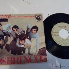 Discos de vinilo: LOS BRINCOS - RENACERÁ / UN SORBITO DE CHAMPAGNE / GIULIETTA / TU EN MI . Lote 55709603