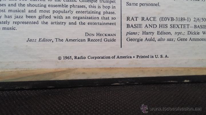 Discos de vinilo: Genuino disco Lps de Jazz de 1965, THE BE BOP, made in USA - Foto 3 - 47869053