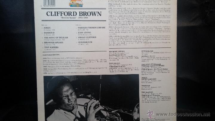 Discos de vinilo: Disco Lps de vinilo, CLIFFORD BROWN - Foto 2 - 47869284