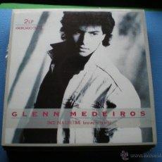 Discos de vinilo: LP GLENN MEDEIROS. DOBLE LP. ONCE IN A LIFETIME PEPETO. Lote 137548490