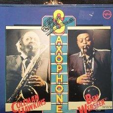 Discos de vinilo: DISCO LPS DE VINILO, SAXOPHONES, COLEMAN HAWKINS & BEN WEBSTER. Lote 47869863