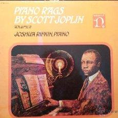 Discos de vinilo: DISCO LPS DE VINILO, PIANO RAGS, BY SCOTT JOPLIN, JOSHUA RIFKIN. Lote 47870246