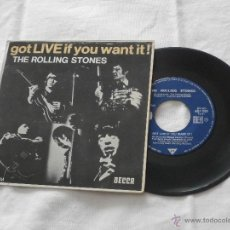 Discos de vinilo: THE ROLLING STONES 7 ´EP GOT LIVE IF YOU WANT IT ! (1965) ORIGINAL FRANCE -5 TEMAS -BUENA CONDICION-. Lote 47873350