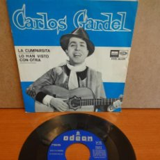 Discos de vinilo: CARLOS GARDEL. LA CUMPARSITA. SINGLE / ODEON - 1964. CALIDAD LUJO. ****/****. Lote 47876359