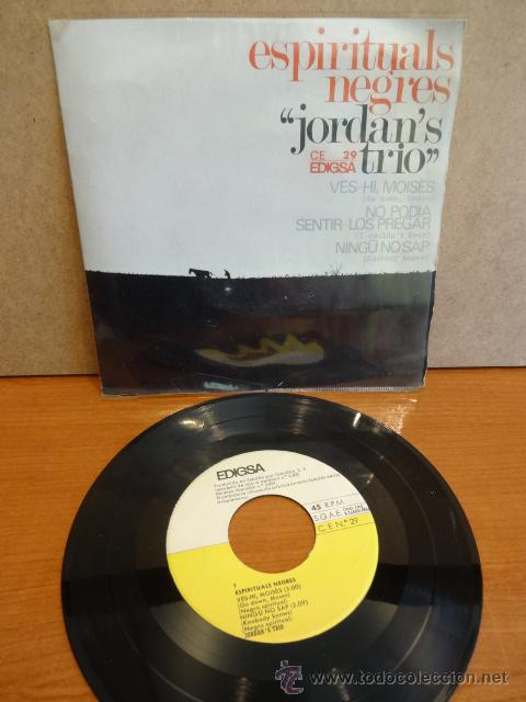 JORDAN'S TRIO. ESPIRITUALS NEGRES. EP / EDIGSA - 1966. CALIDAD LUJO. ****/**** (Música - Discos - Singles Vinilo - Jazz, Jazz-Rock, Blues y R&B)