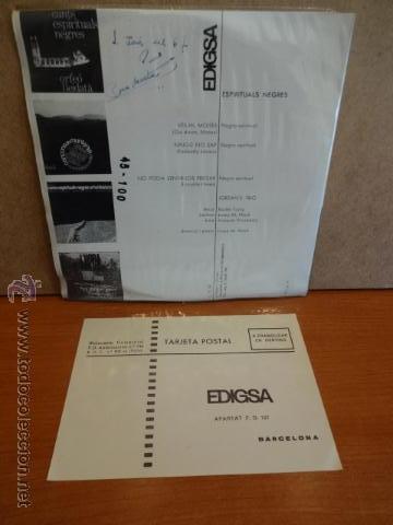 Discos de vinilo: JORDAN'S TRIO. ESPIRITUALS NEGRES. EP / EDIGSA - 1966. CALIDAD LUJO. ****/**** - Foto 2 - 47876630