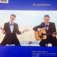 Discos de vinilo: PROCLAIMERS - THE KING OF THE ROAD . MAXI SINGLE . 1990 CHRYSALIS UK - CLAIMX 5. Lote 47877763