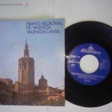 Discos de vinilo: HIMNO REGIONAL DE VALENCIA.VALENCIA CANTA.1959 COLUMBIAALHAMBRA. COROS Y ORQ JOSE PERERA JOSE FERRIZ. Lote 47880845