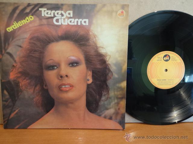 TERESA GUERRA. ARDIENDO. LP-GATEFOLD / EDI MASTER - 1980. MUY BUENA CALIDAD. ***/*** (Música - Discos - LP Vinilo - Flamenco, Canción española y Cuplé)