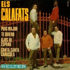 """Discos de vinilo: ELS CALAFATS - EP SINGLE VINILO 7"""" - EDITADO EN ESPAÑA - PUIG MAJOR + 3 - BELTER - AÑO 1969. Lote 47884133"""