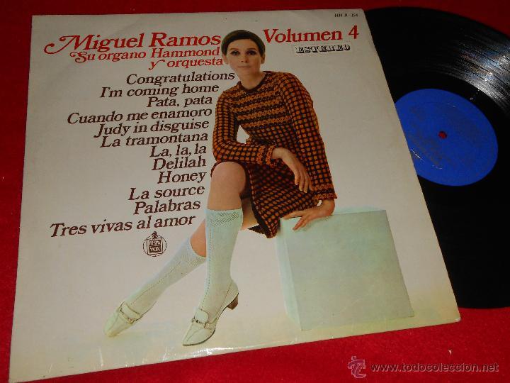 MIGUEL RAMOS SU ORGANO HAMMOND Y ORQUESTA VOLUMEN 4 LP 1968 HISPAVOX ESPAÑA SPAIN (Música - Discos - LP Vinilo - Orquestas)