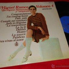 Discos de vinilo: MIGUEL RAMOS SU ORGANO HAMMOND Y ORQUESTA VOLUMEN 4 LP 1968 HISPAVOX ESPAÑA SPAIN. Lote 47888530