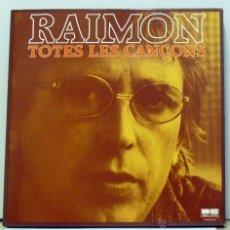 Discos de vinilo: RAIMON - 'TOTES LES CANÇONS' (COFRE CON 10 VINILOS Y LIBRETO. ORIGINAL 1981). Lote 47889737