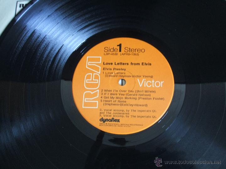 Discos de vinilo: ELVIS PRESLEY - LOVE LETTERS FROM ELVIS - (LSP-4530) RCA VICTOR / USA, 1971 / - Foto 7 - 47836769