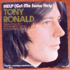 Discos de vinilo: SINGLE VINILO DE TONY ROLAND HELP. Lote 47897934