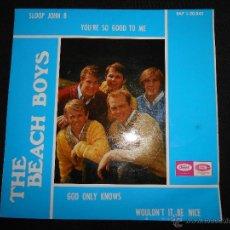Discos de vinilo: THE BEACH BOYS // SLOOP JOHN B + 3. Lote 47898483