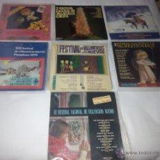 Disques de vinyle: LOTE 7 LP 33 RPM / FESTIVAL DE VILLANCICOS / EDITADO POR BELTER. Lote 47899052