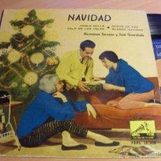 Discos de vinilo: HERMANAS SERRANO Y JOSE GUARDIOLA . NAVIDAD (JINGLE BELLS +3 EP ESPAÑA 1959 (NM/EX+) (EP11). Lote 47904073