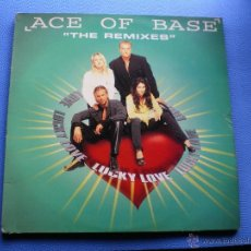 Disques de vinyle: MAXI ACE OF BASE - LUCKY LOVE (THE REMIXES). Lote 47906343
