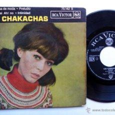 Discos de vinilo: LES CHAKACHAS. EP RCA VICTOR 75.142 S. FRANCE. BOSSA DE MODA. PRELUDIO. AH SI, AH NO. INTIMIDAD.. Lote 47907224