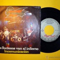 Discos de vinilo: BARÓN ROJO. LOS ROCKEROS VAN AL INFIERNO. SINGLE. Lote 47909654