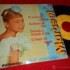 Discos de vinilo: MARISOL MI CARITA DE AZUCENA/SEVILLANAS DEL TILIN/EL TESORO DEL DUENDE +1 EP 1962 MONTILLA. Lote 47909982