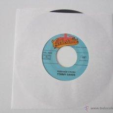 Discos de vinilo: TOMMY SANDS - TEENAGE CRUSH/GOIN' STEADY 1957 USA SINGLE * FUNDA DE PLASTICO TRANS. Lote 47912617