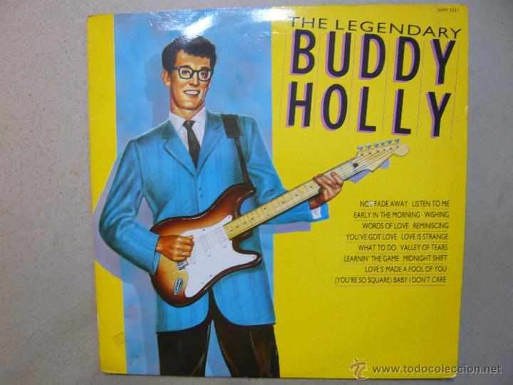Discos de vinilo: BUDDY HOLLY. THE LEGENDARY BUDDY HOLLY. HALLMARK RECORDS SHM 3221 LP UK 1987 - Foto 1 - 47916054