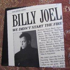 Discos de vinilo: BILLY JOEL MAXI-SINGLE DE VINILO- TITULO WE DIDN'T START THE FIRE- 3 TEMAS-ORIGINAL DEL 89- NUEVO. Lote 47925304