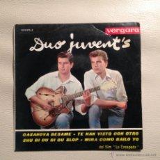 Discos de vinilo: EP DUO JUVENTS - 1963. Lote 47926051