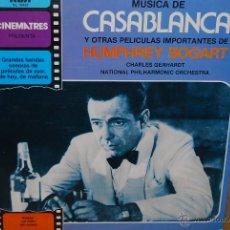 Discos de vinilo: LP - MUSICA DE CASABLANCA Y OTRAS PELICULAS IMPORTANTES DE HUMPHREY BOGART. Lote 47927582