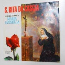 Discos de vinilo: S. RITA DE CASCIA. SCENE DAL DRAMMA DI MARIA IANNELLA. MONASTERIO DI S. RITA IN CASCIA. TDKDS2. Lote 47930437