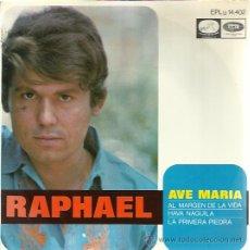 Discos de vinilo: RAPHAEL EP HISPAVOX 1968 AVE MARIA/ AL MARGEN DE LA VIDA/ HAVA NAGUILA/ LA PRIMERA PIEDRA . Lote 47935444
