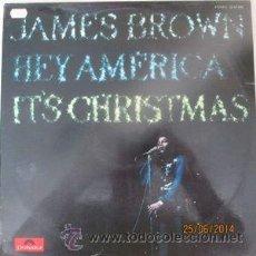 Discos de vinilo: JAMES BROWN ?– HEY AMERICA IT'S CHRISTMAS LP ORIG POLYDOR ESPAÑA 1972 EX/EX. Lote 47939505