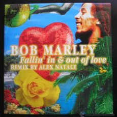 Discos de vinilo: BOB MARLEY.FALLIN´IN & OUT OF LOVE.REMIX BY ALEX NATALE. MAXI SINGLE DANCE FACTORY.MADE IN ITALY. Lote 47942071