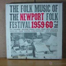 Discos de vinilo: GUY CARAWAN / SONNY TERRY Y MAS - THE FOLK MUSIC OF THE NEWPORT FOLK FESTIVAL 1959-60 VOL. 2 - 1983 . Lote 47946578